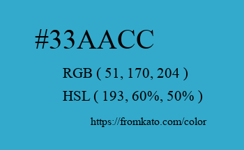 Color: #33aacc