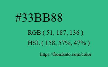 Color: #33bb88
