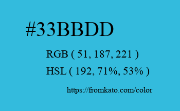 Color: #33bbdd