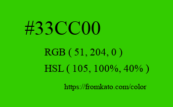 Color: #33cc00