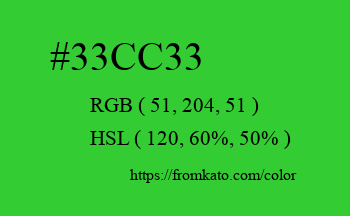 Color: #33cc33