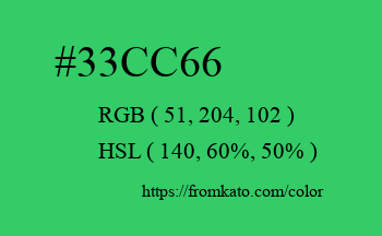 Color: #33cc66