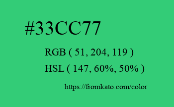 Color: #33cc77