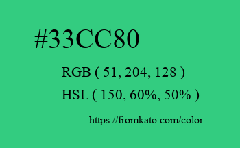 Color: #33cc80