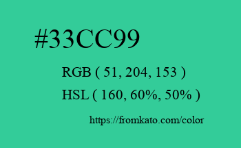 Color: #33cc99