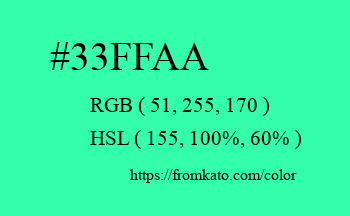 Color: #33ffaa