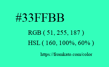 Color: #33ffbb