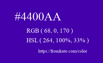 Color: #4400aa