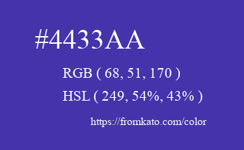 Color: #4433aa