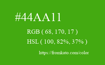 Color: #44aa11