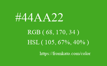 Color: #44aa22