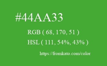 Color: #44aa33