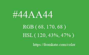 Color: #44aa44