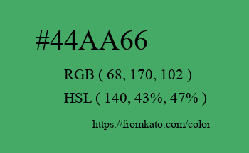 Color: #44aa66