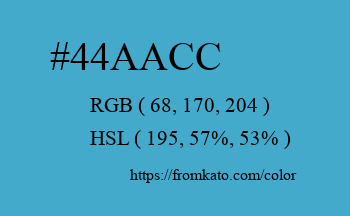 Color: #44aacc