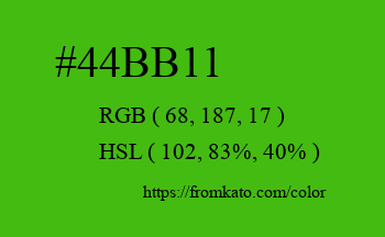 Color: #44bb11