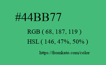 Color: #44bb77