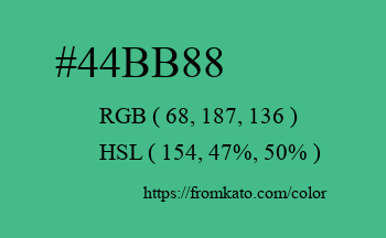 Color: #44bb88