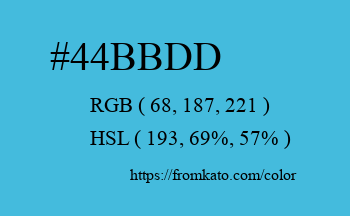 Color: #44bbdd
