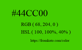 Color: #44cc00