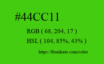 Color: #44cc11
