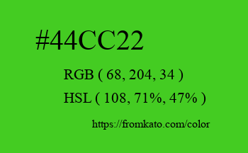 Color: #44cc22