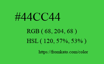Color: #44cc44