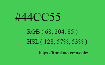 Color: #44cc55