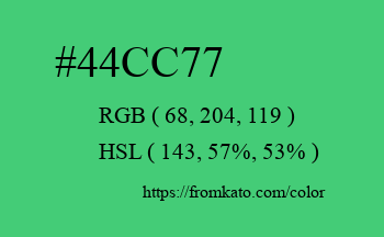 Color: #44cc77