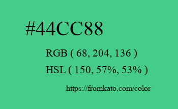 Color: #44cc88