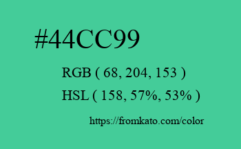 Color: #44cc99