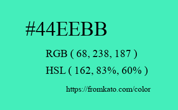 Color: #44eebb