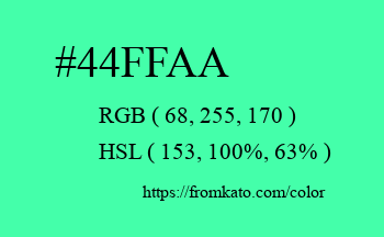 Color: #44ffaa