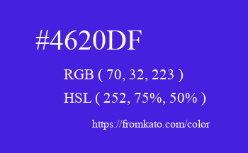 Color: #4620df