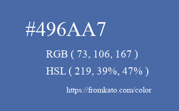 Color: #496aa7