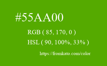 Color: #55aa00