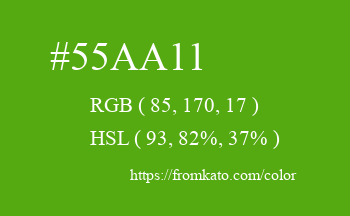 Color: #55aa11