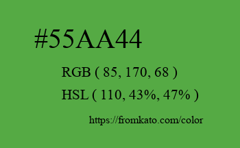 Color: #55aa44