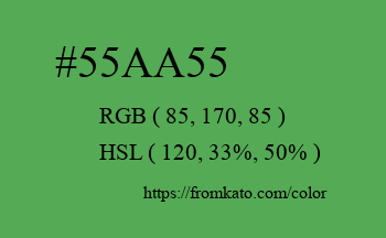 Color: #55aa55