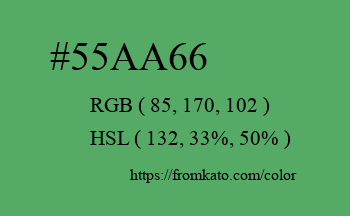 Color: #55aa66