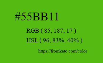 Color: #55bb11