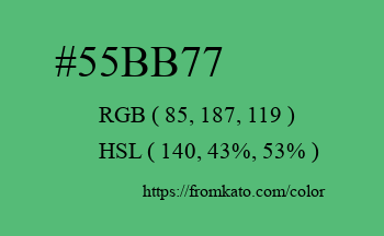 Color: #55bb77