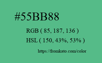 Color: #55bb88