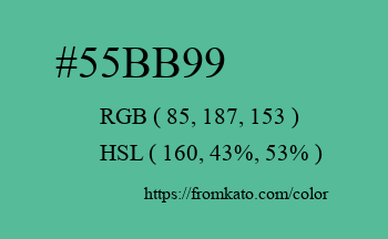 Color: #55bb99