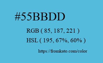 Color: #55bbdd
