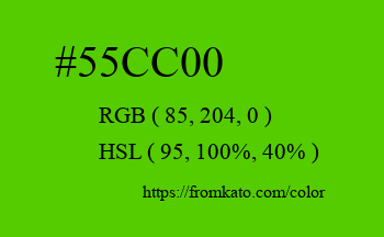 Color: #55cc00