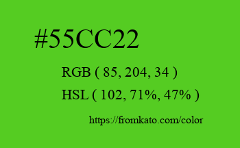 Color: #55cc22