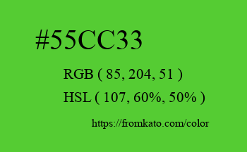 Color: #55cc33