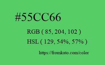 Color: #55cc66