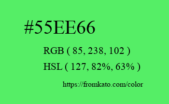 Color: #55ee66